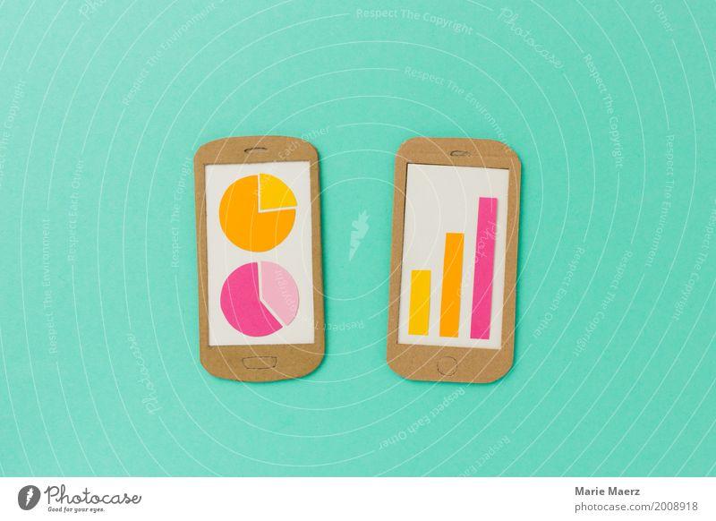 Handy Statistik Business Wachstum modern Erfolg Telekommunikation Zukunft Wandel & Veränderung Grafik u. Illustration Geld Telefon Informationstechnologie