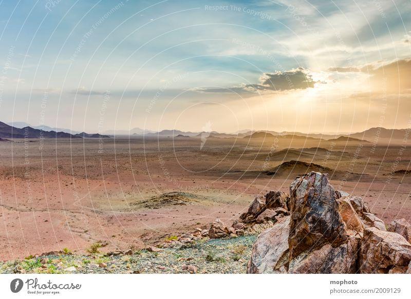 Namibian Sundowner #1 Himmel Natur Ferien & Urlaub & Reisen Sommer Landschaft Sonne Wolken Ferne Wärme Umwelt Tourismus Freiheit Horizont Idylle Abenteuer