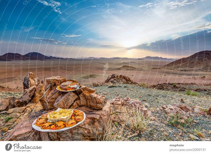 Sundowner Himmel Natur Ferien & Urlaub & Reisen Landschaft Wolken Ferne Berge u. Gebirge natürlich Lebensmittel Tourismus Ausflug Ernährung Idylle genießen