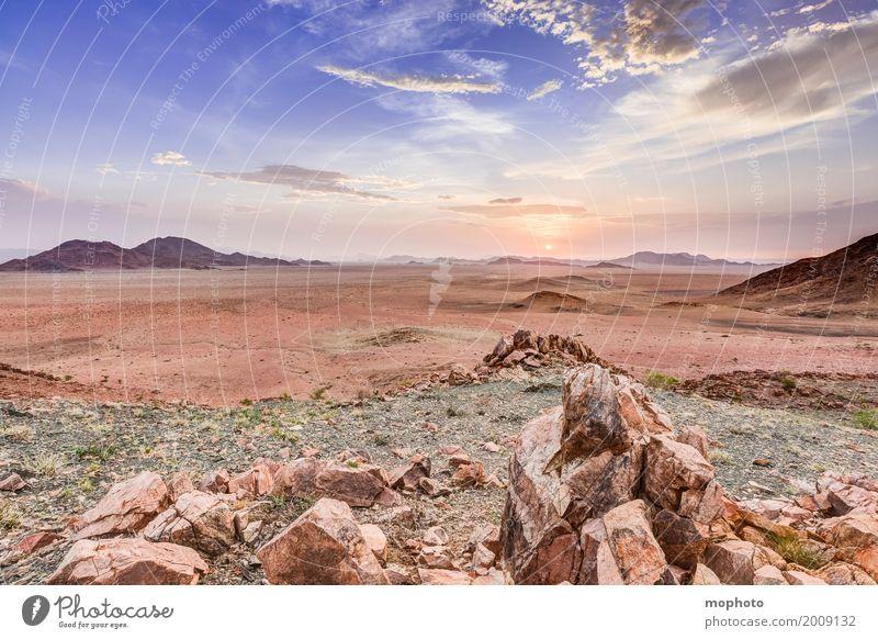 Namibian Sundowner #2 Himmel Natur Ferien & Urlaub & Reisen Sommer Landschaft Sonne Wolken Ferne Wärme Umwelt natürlich Tourismus Freiheit wild Horizont