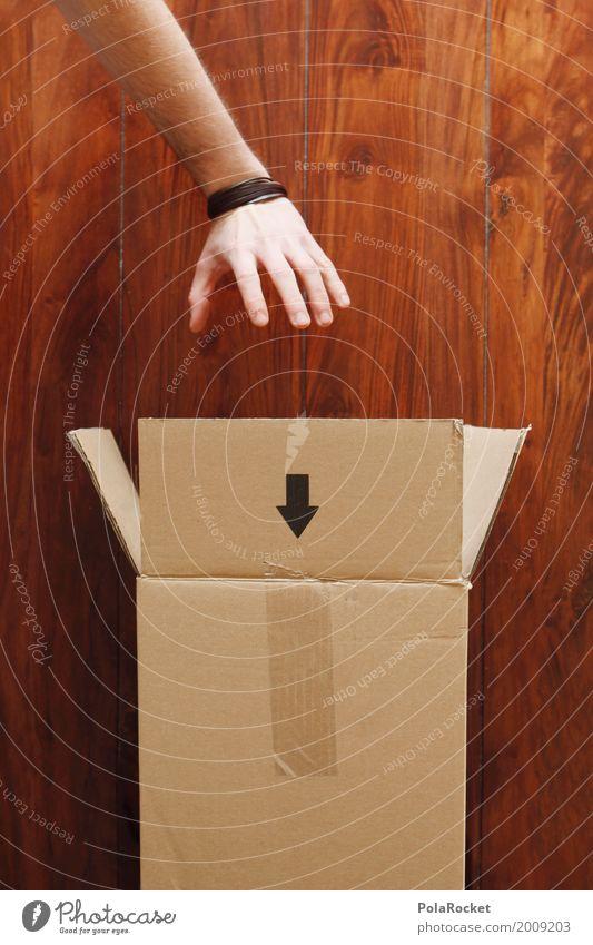 #AS# Bestellung Kunst ästhetisch greifen Kiste Paket Paketband Neugier Pfeil Pfeile aufmachen Versand Versandhandel Onlineshop online Hand senden Karton kaufen
