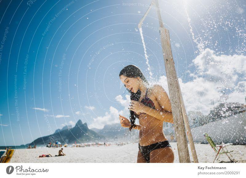 Rio heat Lifestyle elegant exotisch Freude schön Körper Leben harmonisch Schwimmen & Baden Ferien & Urlaub & Reisen Ferne Sommerurlaub Sonne Strand feminin