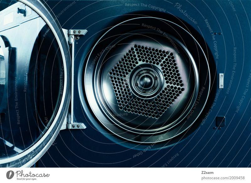 lass doch mal waschen Waschmaschine Maschine ästhetisch elegant kalt rund blau Design Energie Ordnung Präzision Dienstleistungsgewerbe Trommel Charakter