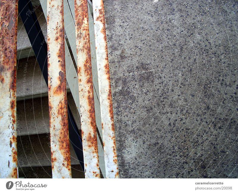 rostiges geländer Metall Treppe Häusliches Leben Rost Geländer Patina