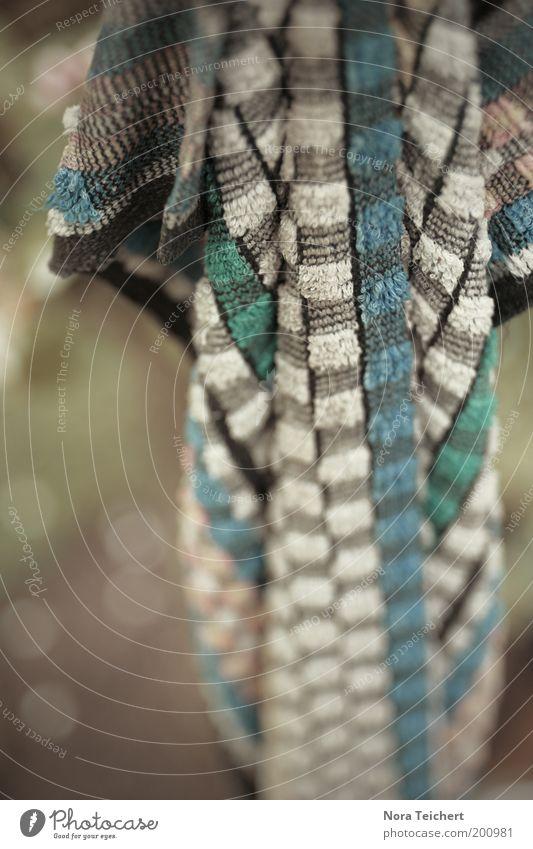rumhängen. Umwelt Natur Sommer Garten Handtuch Putztuch Textilien Stoff ästhetisch frisch trocken weich blau grün Stimmung geduldig Kontakt Perspektive rein