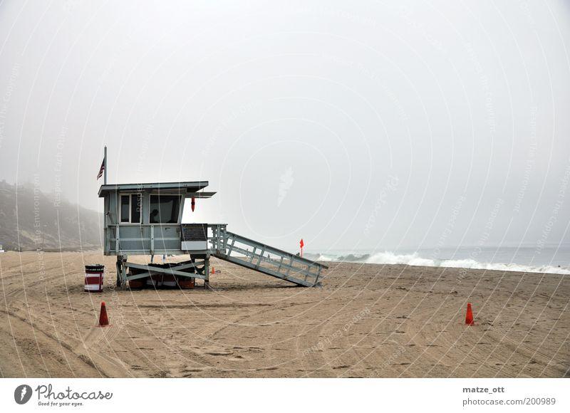 Keine Sonne in Kalifornien Natur Wasser Ferien & Urlaub & Reisen Meer Sommer Strand ruhig kalt Küste Sand Wellen Nebel Freizeit & Hobby Tourismus trist Bucht