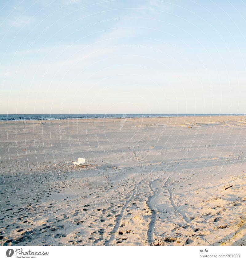 Sandbank harmonisch Erholung ruhig Ferien & Urlaub & Reisen Freiheit Strand Meer Natur Landschaft Luft Wasser Himmel Wolken Horizont Sonnenlicht Schönes Wetter