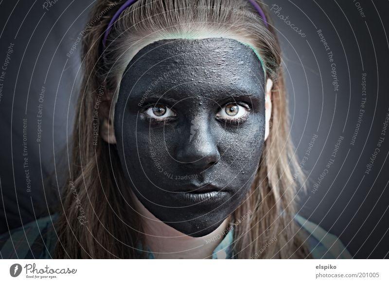 Neutral Frau Mensch Kind Jugendliche Mädchen schön Gesicht schwarz Auge feminin Haare & Frisuren Kopf Farbstoff Mund Haut Erwachsene