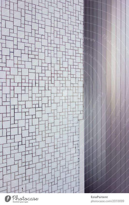 | Stil Dekoration & Verzierung Bauwerk Gebäude Architektur Mauer Wand Fassade Beton Metall Linie grau weiß Hintergrundbild Labyrinth Fliesen u. Kacheln