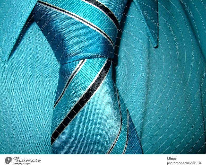 Krawatte blau Stil Erwachsene elegant Mode Ordnung maskulin Zukunft Streifen Stoff Hemd Gesellschaft (Soziologie) Glaube reich Krawatte selbstbewußt