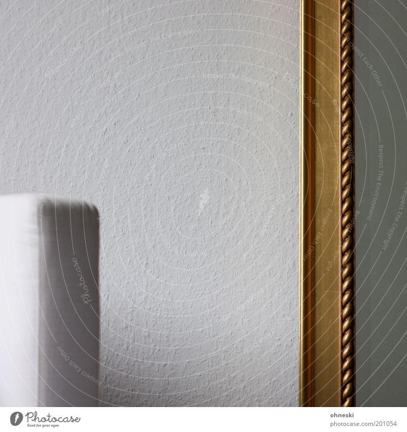 Interieur Häusliches Leben Wohnung einrichten Innenarchitektur Möbel Sessel Spiegel Wohnzimmer Tapete Raufasertapete Sauberkeit weiß Farbfoto Gedeckte Farben