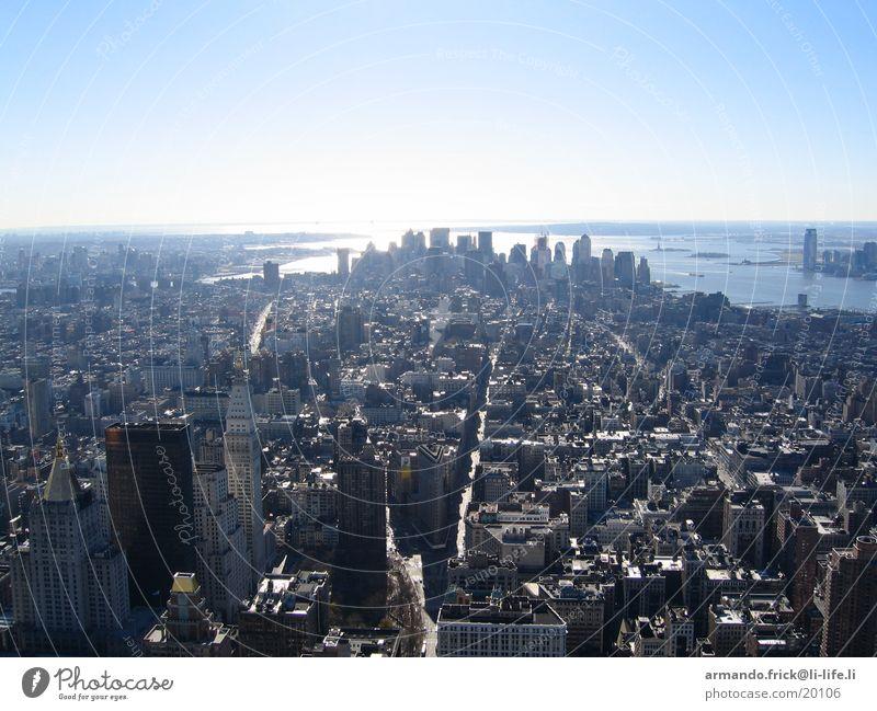 Skyline New York Aussicht New York City Blauer Himmel Nordamerika Empire State Building