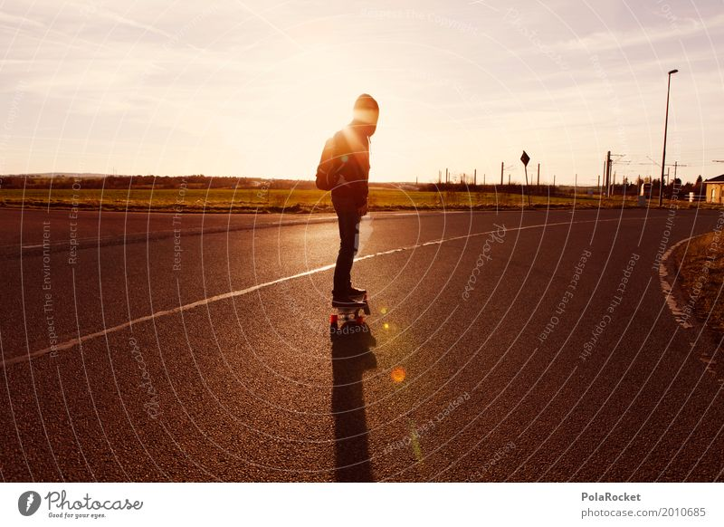 #AS# Into The Sunset Lifestyle elegant Freude ästhetisch Feierabend Sonnenuntergang Asphalt Kapuzenpullover Erholung Jugendliche Jugendkultur Straße sportlich