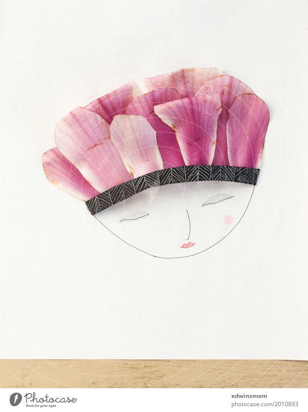 Mrs Magnolia Natur Pflanze schön weiß Erholung Blatt Blüte Frühling natürlich feminin Haare & Frisuren Kopf rosa Freizeit & Hobby elegant