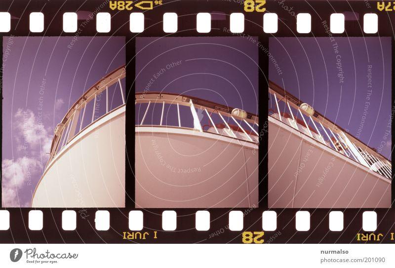 3mal1 Geländer Himmel Meer Sommer Ferien & Urlaub & Reisen Kunst elegant Umwelt Verkehr ästhetisch Güterverkehr & Logistik Tourismus rund Klima Stahl trashig
