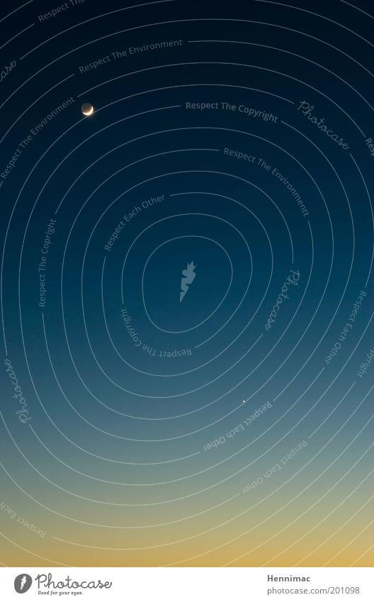 384401 km. Himmel Natur blau ruhig schwarz gelb Erholung träumen Stimmung Luft gold Stern Ordnung fliegen frei ästhetisch