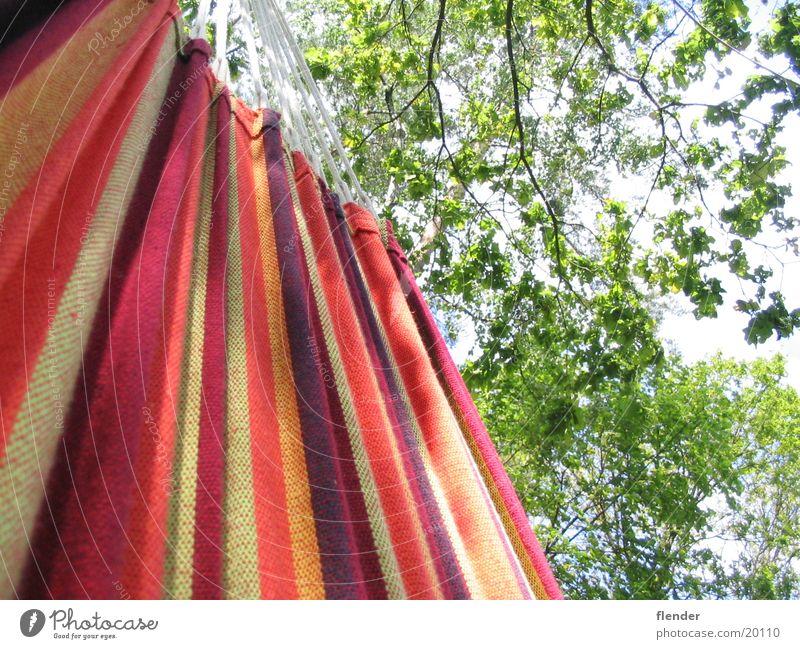 Hängematte Sommer Baum Blatt mehrfarbig Freizeit & Hobby Himmel