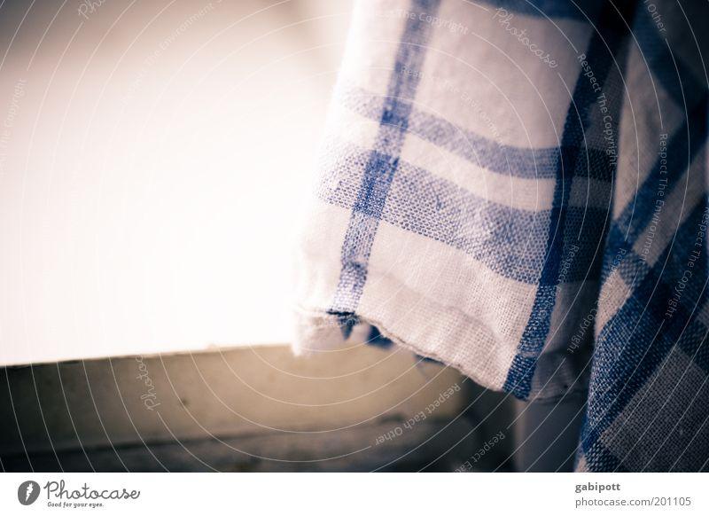 dioxin beim Abwasch helf blau Wohnung Küche weich Sauberkeit Häusliches Leben Reinigen trocken hängen Haushalt kariert gleich Reinlichkeit Küchenhandtücher