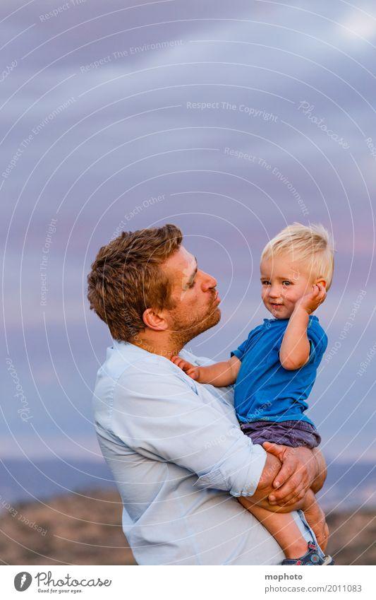 Vater-Sohn #1 Mensch Kind Natur Mann blau Landschaft Wolken Erwachsene Leben Liebe Gefühle Junge Familie & Verwandtschaft Freundschaft maskulin Kindheit