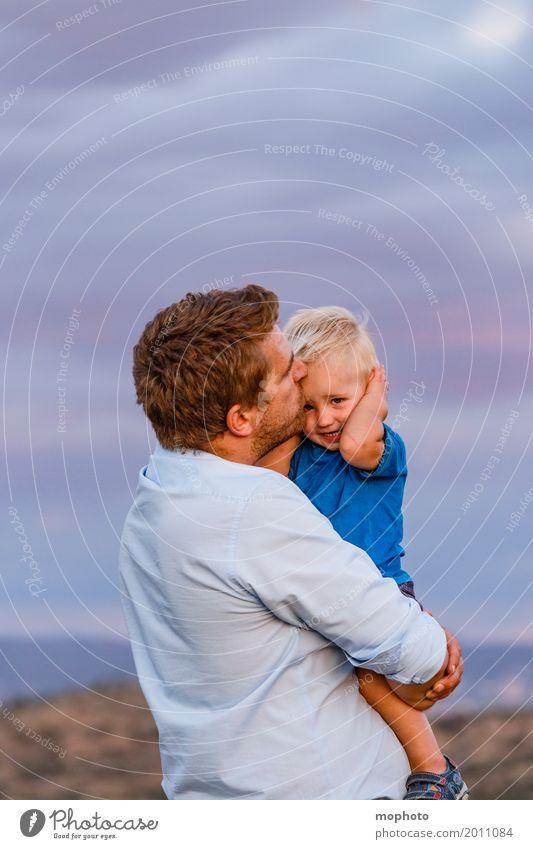 Vater-Sohn #2 Mensch Kind Natur Mann blau Landschaft Wolken Erwachsene Leben Liebe Gefühle Junge Familie & Verwandtschaft Freundschaft maskulin Kindheit