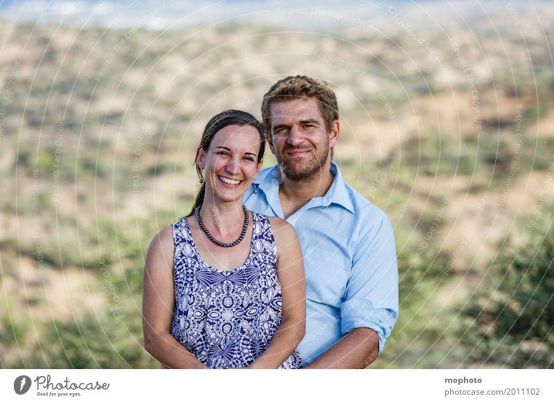 Glückliches Ehepaar #2 Mensch Frau Erwachsene Mann Paar Partner Leben 30-45 Jahre Natur Park Lächeln Fröhlichkeit Klischee Lebensfreude Geborgenheit Einigkeit
