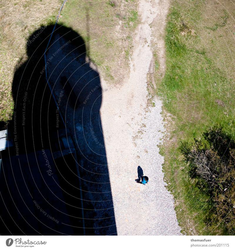 big brother Mensch grün Ferien & Urlaub & Reisen schwarz klein Küste hoch groß Ausflug Insel Perspektive bedrohlich beobachten Leuchtturm Sommerurlaub