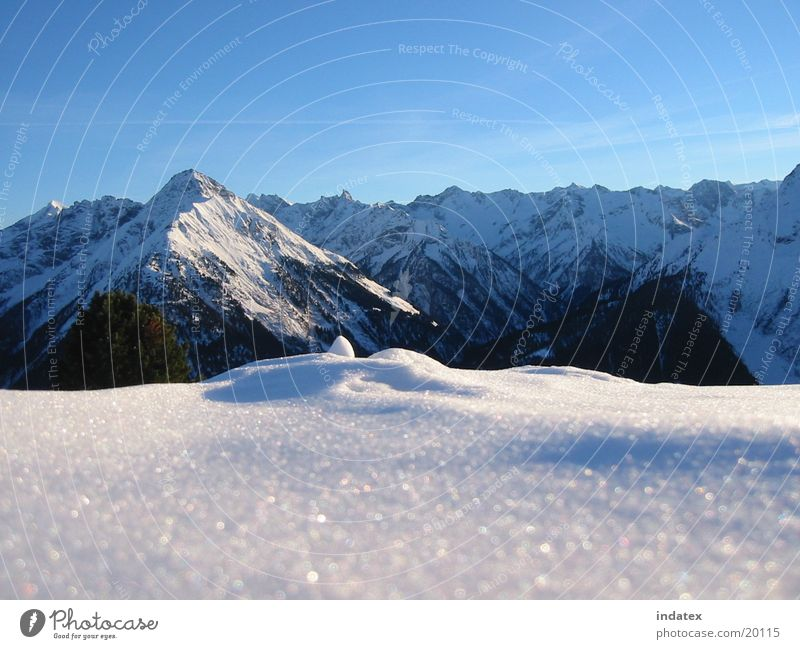 Winter Natur Schnee Berge u. Gebirge