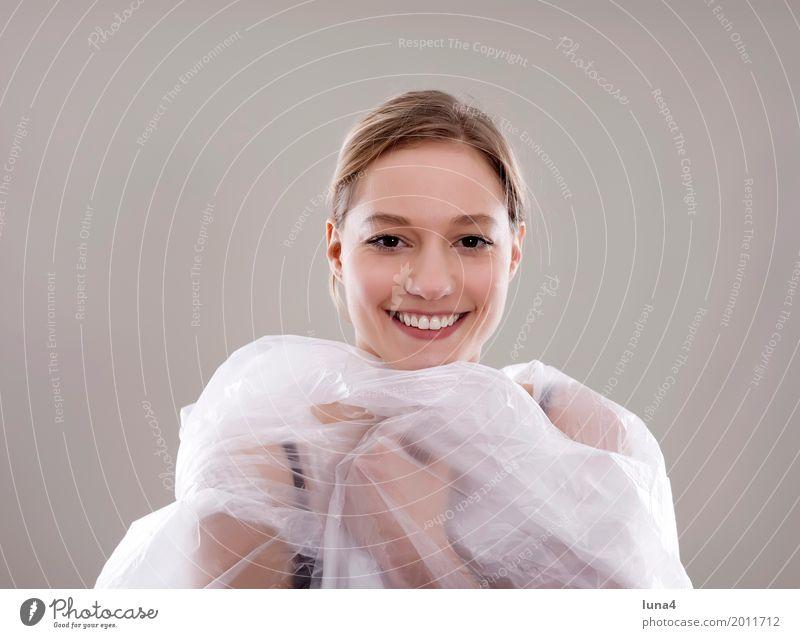 Folie 2 Mensch Frau Jugendliche Junge Frau schön Freude 18-30 Jahre Erwachsene lachen Glück blond Fröhlichkeit Lebensfreude Schutz geheimnisvoll Anmut