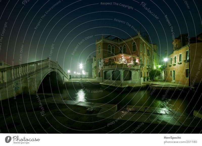 Rio di San Giuseppe Nebel Venedig Italien Stadt Hafenstadt Altstadt Menschenleer Haus Brücke Bauwerk Gebäude Architektur Sehenswürdigkeit Kanal Wasserstraße
