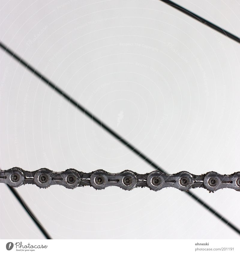 Hätte, hätte Fahrradkette Metall Technik & Technologie Güterverkehr & Logistik Fett silber Muster Verkehrsmittel Leistung Speichen Lebensmittel ölig