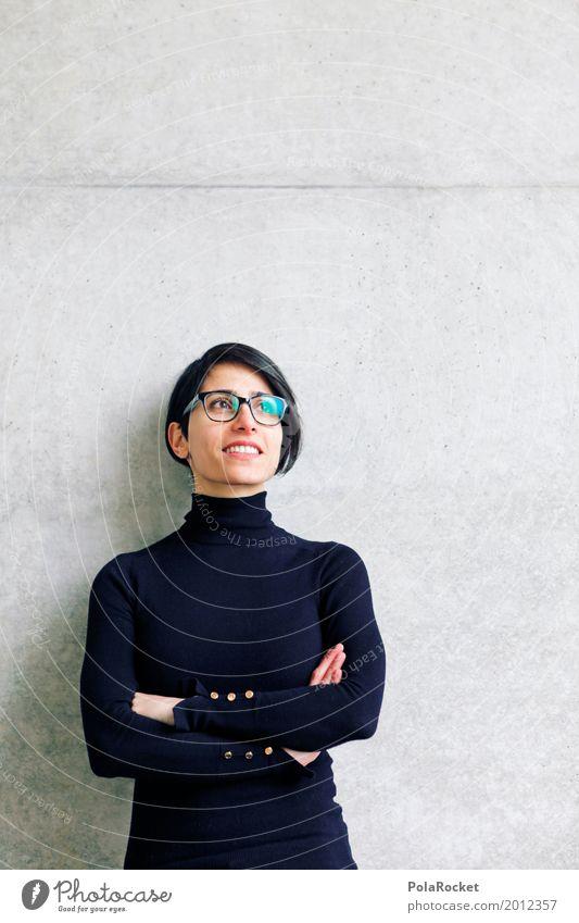 #A# Positiv in die Zukunft Frau Jugendliche ruhig Kunst Denken Kraft ästhetisch Aussicht Idee Jugendkultur Brille Beruf Karriere positiv Berufsausbildung