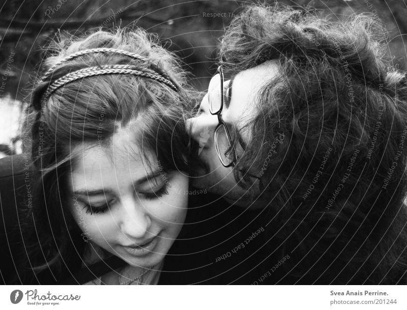eine liebe. Mensch Jugendliche schön Gesicht Erwachsene Liebe feminin Gefühle Haare & Frisuren Glück träumen Paar Stimmung Zusammensein Mund maskulin