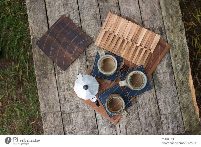 Kaffeetisch Natur Sommer Erholung Freude Lifestyle Garten Design Zusammensein Freundschaft Zufriedenheit Ausflug Kreativität Schönes Wetter Lebensfreude Pause
