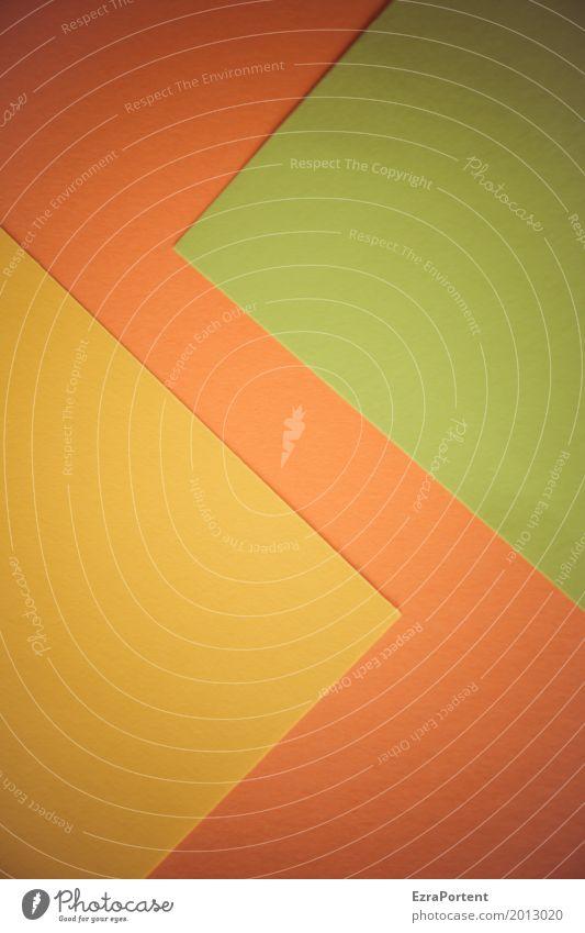 ZickZack Stil Design Basteln Dekoration & Verzierung Papier gelb grün orange ästhetisch Farbe Werbung Hintergrundbild Zickzack Spitze Strukturen & Formen