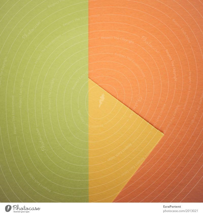 G|g>O Stil Design Basteln Dekoration & Verzierung Papier Linie Pfeil ästhetisch gelb grün orange Farbe Werbung Hintergrundbild Spitze Strukturen & Formen