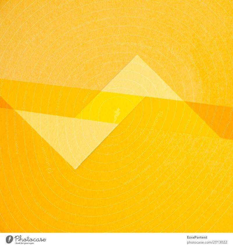 ZackZick Stil Design Basteln Dekoration & Verzierung Papier gelb gold orange Farbe Werbung Hintergrundbild Doppelbelichtung Spitze Zickzack Linie Textfreiraum