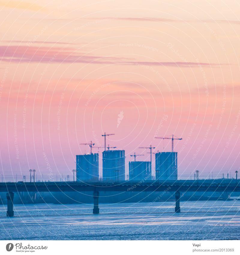 Himmel Ferien & Urlaub & Reisen blau Stadt Wasser weiß Landschaft rot Wolken Haus schwarz Architektur gelb Küste Gebäude Business