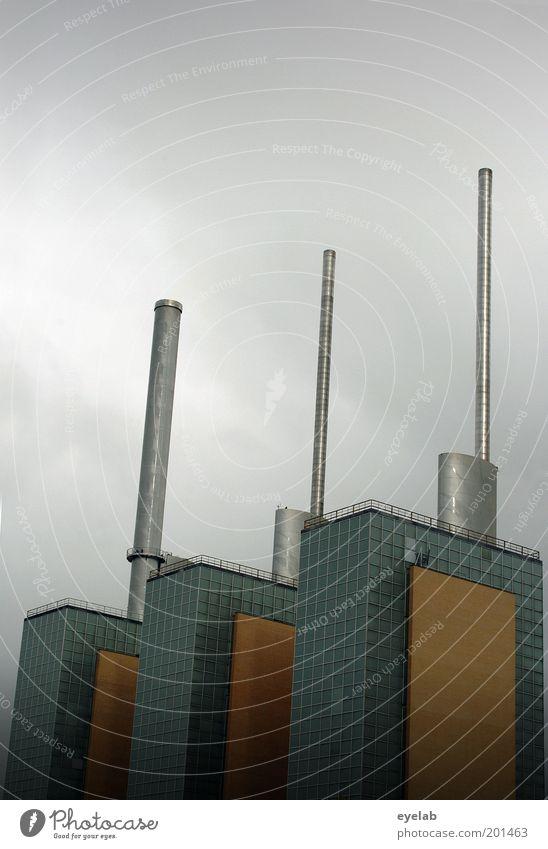 Die Hannoverischen Drillinge Technik & Technologie Energiewirtschaft Himmel Wolken Wetter Industrieanlage Fabrik Turm Bauwerk Gebäude Architektur Fassade