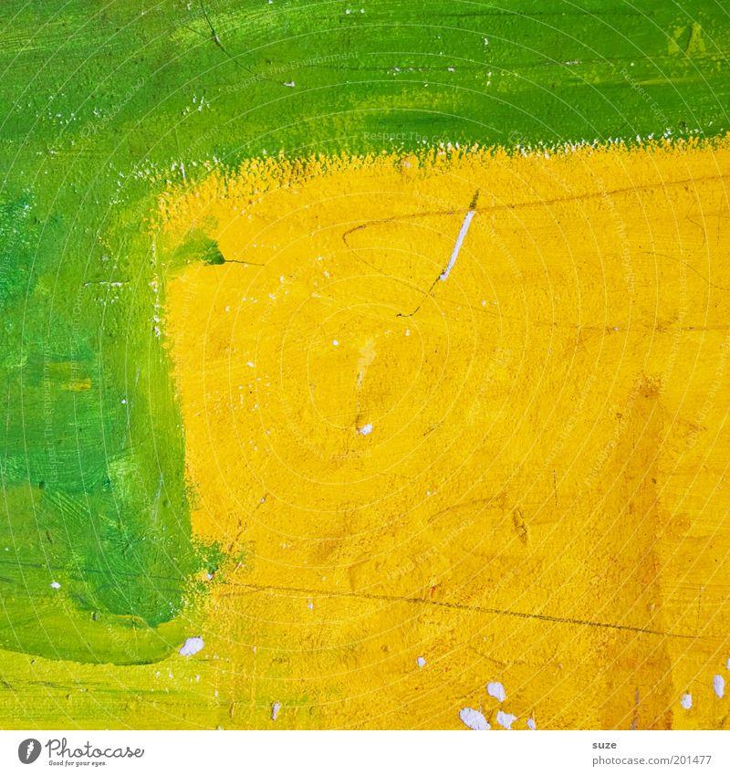 Keine Kunst Stil Design Freizeit & Hobby Kunstwerk Gemälde streichen ästhetisch Fröhlichkeit einzigartig Originalität rebellisch verrückt gelb grün Farbe