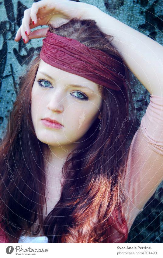 ich wäre gern. Mensch Jugendliche blau ruhig Gesicht Erwachsene Auge feminin Haare & Frisuren Stil Mode hell braun rosa Arme Mund