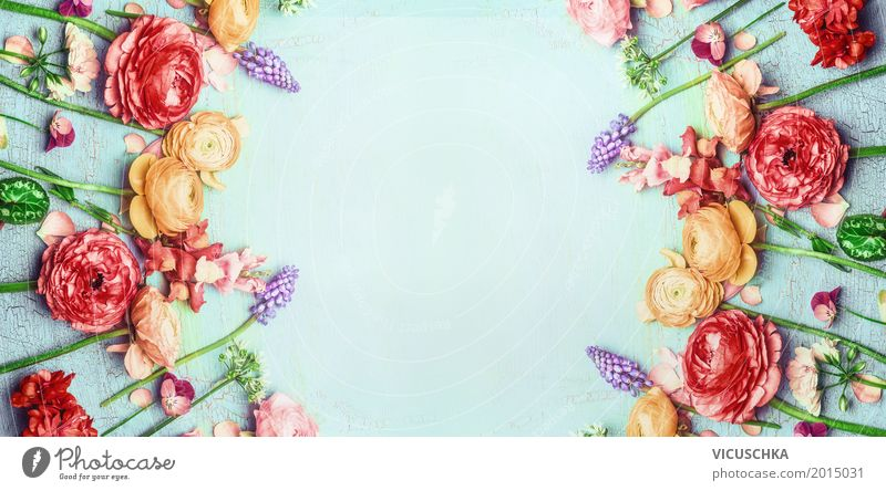 Shabby Chic Blumen Rahmen Stil Design Sommer Feste & Feiern Valentinstag Muttertag Hochzeit Geburtstag Natur Pflanze Frühling Rose Blatt Blüte Garten