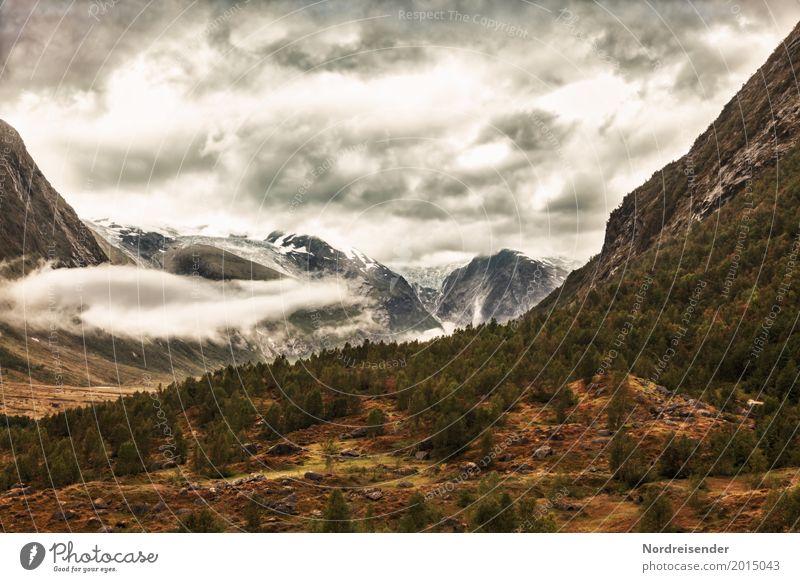 Reinheimen Nationalpark Himmel Natur Ferien & Urlaub & Reisen Landschaft Wolken Wald dunkel Berge u. Gebirge Wege & Pfade natürlich Tourismus braun Felsen Regen