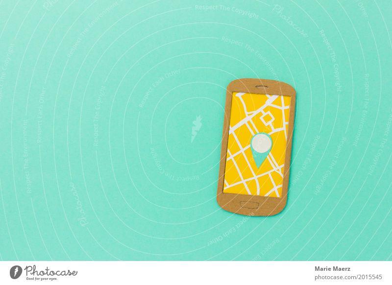 Orientierung Ferien & Urlaub & Reisen Städtereise Handy PDA Internet laufen trendy modern türkis Sicherheit Genauigkeit Ordnung planen Navigationssystem