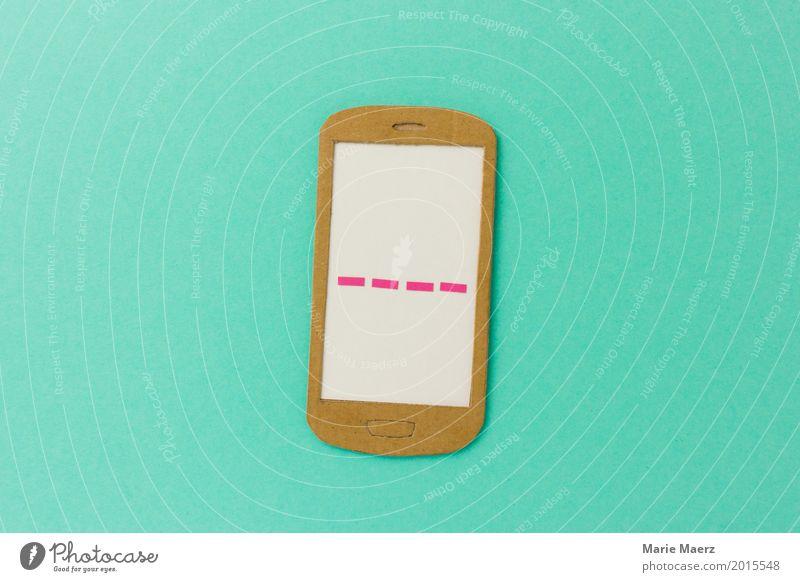 Handy Pin Lifestyle Technik & Technologie Telekommunikation gefährlich geschlossen einfach Grafik u. Illustration Sicherheit Schutz schreiben türkis Kontrolle