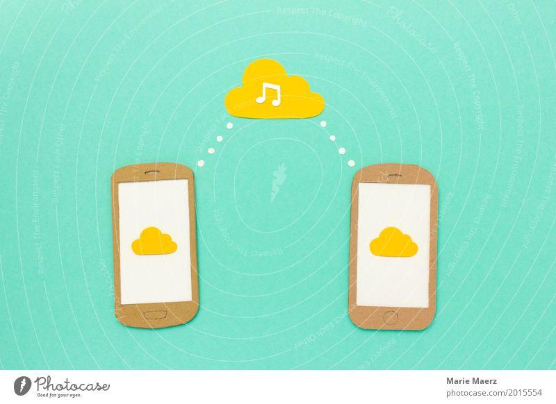 Cloud Communication Freude sprechen Stil modern Musik Kommunizieren Technik & Technologie Geschwindigkeit Coolness Grafik u. Illustration Netzwerk Internet