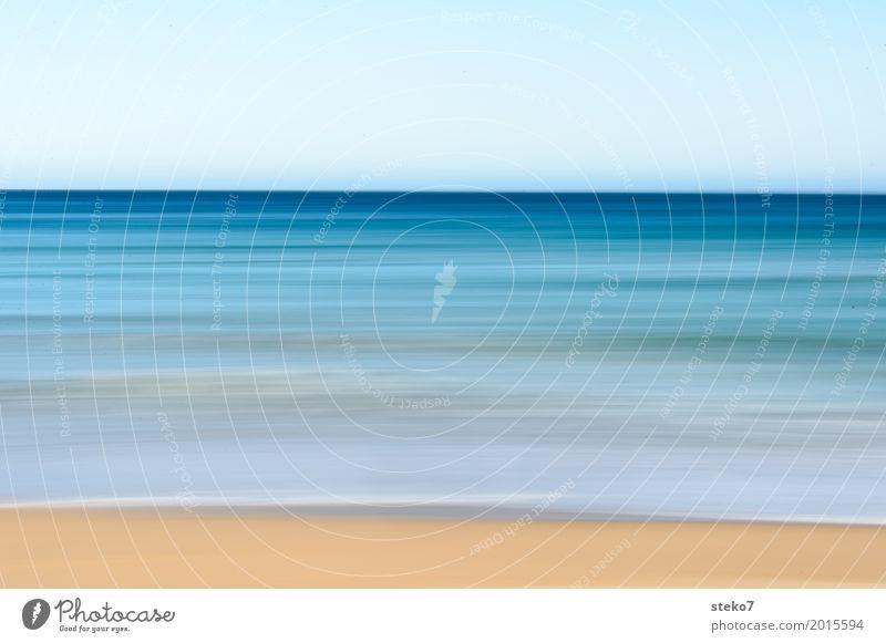 Sommerfarben II Wasser Himmel Horizont Wellen Küste Strand maritim Wärme blau gelb Bewegung Farbe Ferien & Urlaub & Reisen Pazifik Pazifikstrand Australien