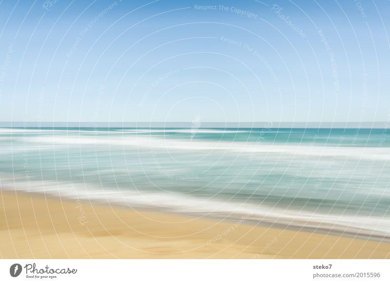 Sommerfarben III Wellen Küste Strand Meer Pazifik hell Wärme blau gelb Freiheit Ferien & Urlaub & Reisen Wellenlinie Australien Great Ocean Road Süd Australien