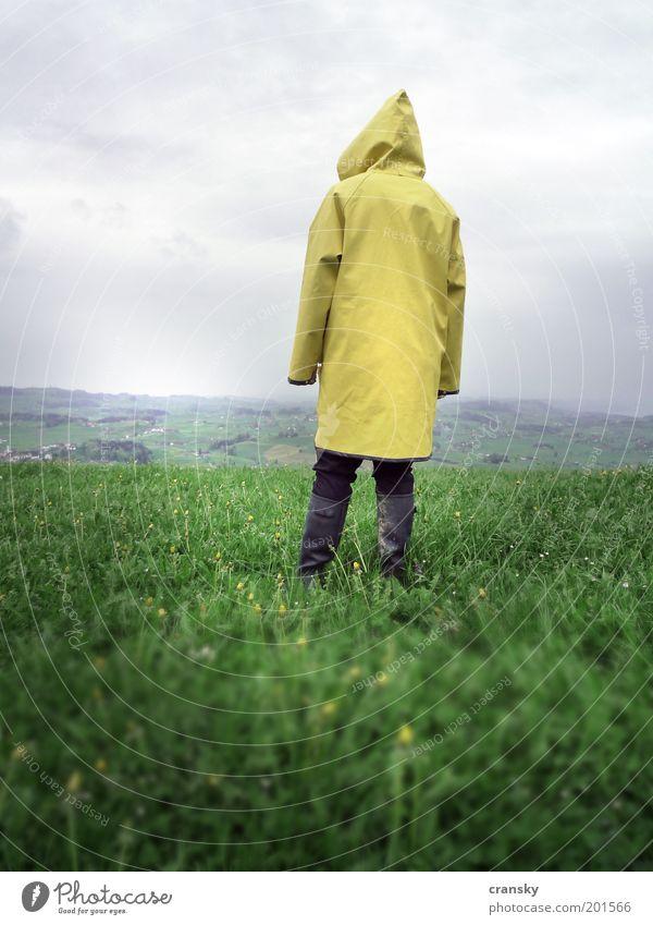 Hinter den 7 Bergen Mensch Himmel Natur Ferien & Urlaub & Reisen Pflanze Einsamkeit Landschaft ruhig Wolken Ferne Umwelt Leben Wiese Herbst Gras Freiheit