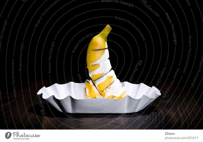 ekligant schwarz Ernährung gelb Leben dunkel Gesundheit Design elegant Frucht Papier Wurstwaren ästhetisch stehen abstrakt lecker trashig