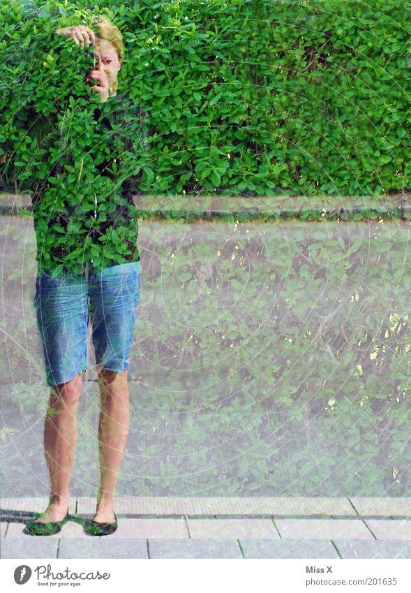 bereit für die Bundeswehr ! Mensch Jugendliche Experiment Erwachsene Sträucher Freizeit & Hobby Fotokamera Spiegel Reflexion & Spiegelung mehrfarbig verstecken